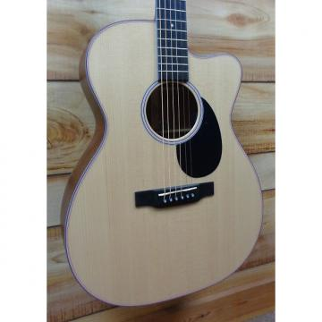 Custom New Martin® OMC16E Orchestra Acoustic Electric Guitar Spruce and Cherry w/Case