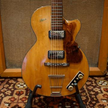 Custom Vintage 1959 Hofner Club 50 Natural Blonde Selmer London Guitar w/ Strap 4.2lbs