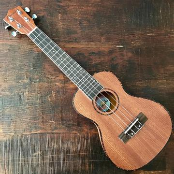 Custom Amahi Classic Mahogany Concert Ukulele w/ 10mm Padded Bag and Leather Pick