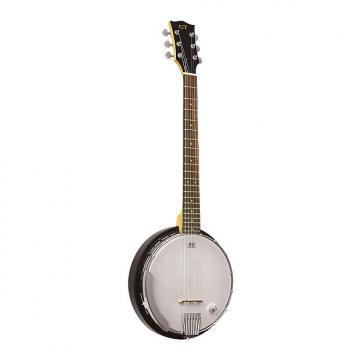 Custom Gold Tone AC-6+/L Left-Handed Acoustic Composite 6-String Banjo Guitar with Gig Bag