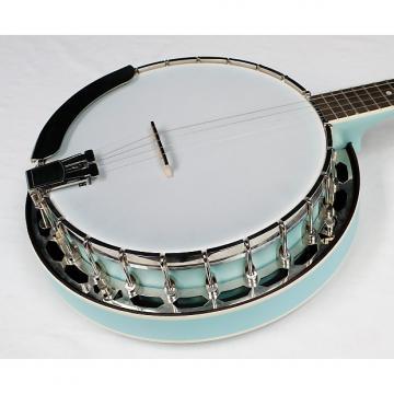 Custom Recording King RKS-06-LBL Starlight Resonator Banjo, Sky Blue Finish, NEW!! #38335