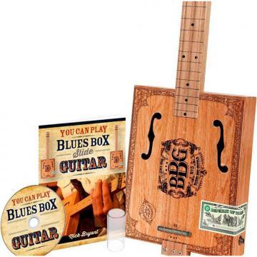 Custom Hinkler The Electric Blues Box Slide Guitar Kit - Cigar Box Guitar 2017 Natural