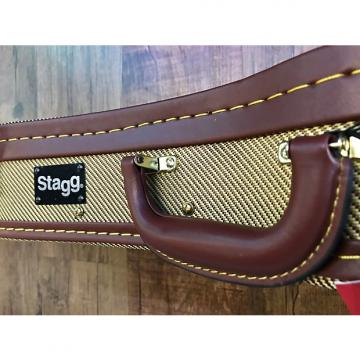 Custom Stagg Ukulele Case Deluxe Tweed Gold For Soprano