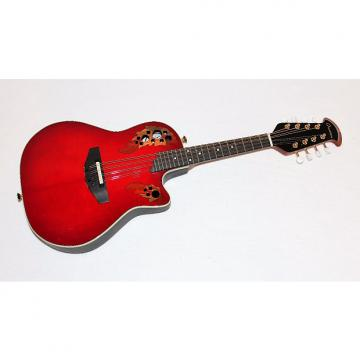 Custom Ovation MM68AX  Red Acoustic-Electric Cutaway Mandolin w/ Case