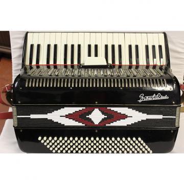 Custom FRONTALINI  FULL SIZE 120 bass piano accordion 1960 to 19 75 black