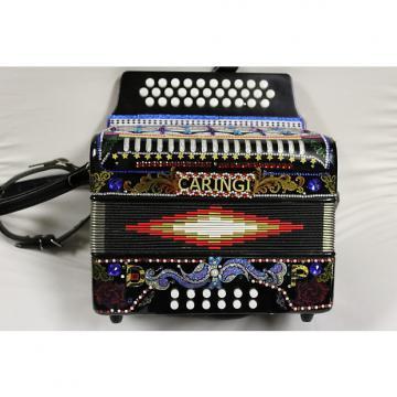 Custom CARINGI  12 bass C/G/F button accordion italian style 2000 to 2010 Black