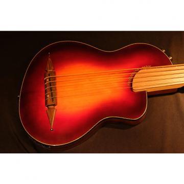 Custom Rick Turner Renaissance  5 String Acoustic Electric Fretless Bass (RB 5-FL) Cherry Sunburst