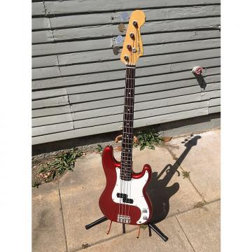 Custom 1989 fender precision-Candy Apple RED-Japan-E Series-Case