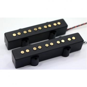 Custom Bassmods NEW!!  Bassmods  Gold Poles REJ5 Pickups Rare Earth Charge Jazz Style Pickups 2017 Chrome Poles