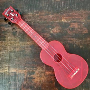 Custom Kala The Waterman Fluorescent Watermelon Pink Soprano Ukulele KA-SWF-PK