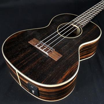 Custom Kala New KALA KA-EBY-TE Striped Ebony Tenor Acoustic Electric Ukulele w/ EQ