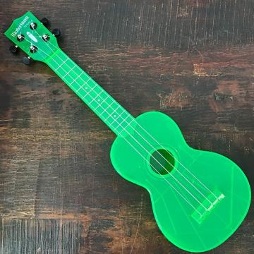 Custom Kala The Waterman Fluorescent Sour Apple Green Soprano Ukulele KA-SWF-GN