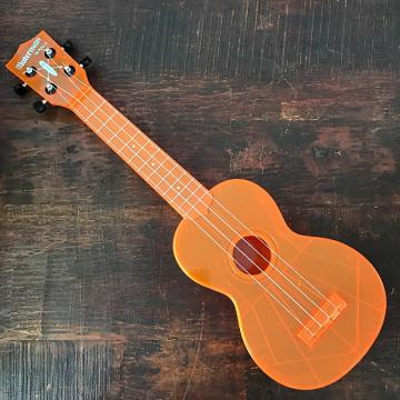 Custom Kala The Waterman Fluorescent Orangesicle Soprano Ukulele KA-SWF-OR