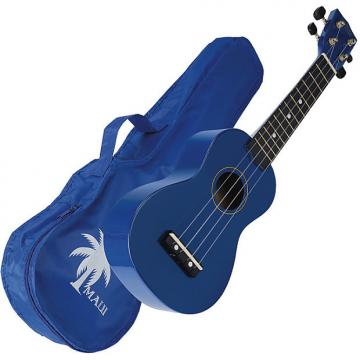 Custom Maui M10BL ukelele soprano azul marino con funda
