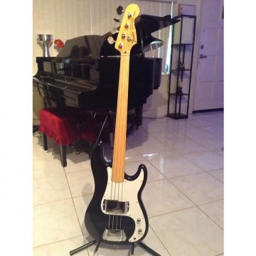 Custom Fender Precision Bass Fretless 1971 (mint !)  Black with a beautiful rare maple neck
