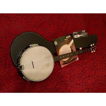 Custom 1960s-1970s Vintage Kay Banjo Closed-Back w/ Original Case & Instructional Material & Tuner