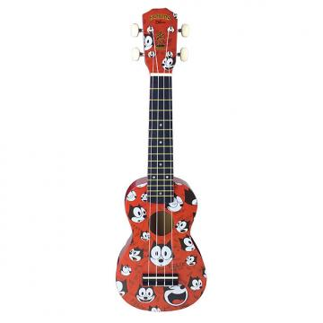 Custom Felix the Cat Soprano Ukulele, Red