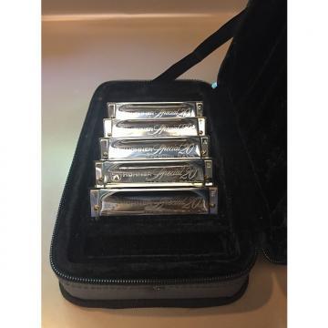 Custom Hohner SPC Case of Special 20s - 5 Harmonicas w/ Case