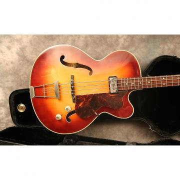Custom 1964 Hofner Senator Bass Cherry Sunburst