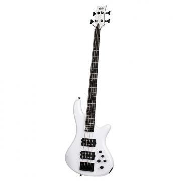 Custom Schecter 2480 4-String Stiletto Stage Bass Guitar, Gloss White