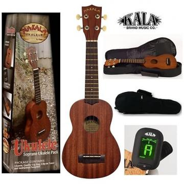 Custom Kala Makala MK-s/pack soprano ukulele package with gig bag, tuner, instructions