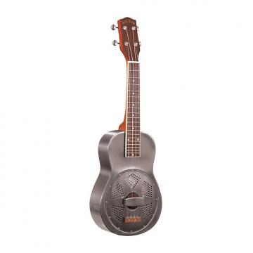 Custom Gold Tone ResoUke - Concert-Scale Metal Body Resonator Ukulele with Case