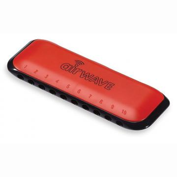 Custom Airwave 1R Harmonica with Instruction Booklet - Red