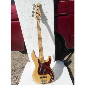 "Custom No Name ""PJ"" Bass Guitar, 1990, Korea, Natural, 34"" Scale, Plays and Sounds Good"