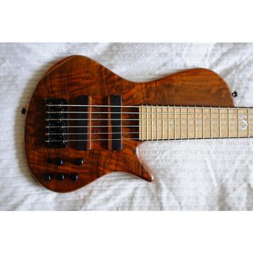 Custom Stambaugh Singlecut 6 String Bass w/Spalted Walnut, Mahogany, Blistered Maple, Ebony