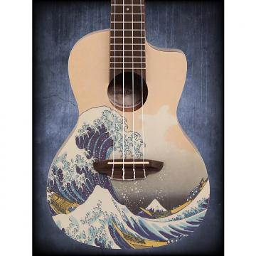 Custom Luna Ukulele Great Wave Concert w/Gigbag