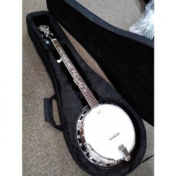 Custom Ibanez B200 5 String Banjo Brass Tone Ring Mahogany Resonator Tree of Life Inlay Natural