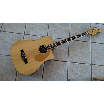 Custom Fender California Series Dreadnought cutaway BASS w/ Fishman pickup 2016 Natural Satin