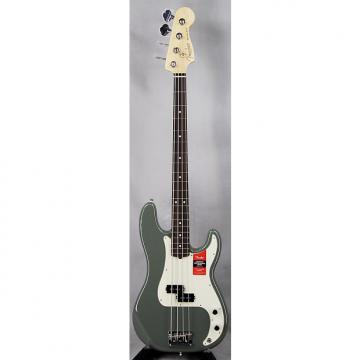 Custom Fender American Pro Precision Electric Bass Maple Fretboard w/Case Antique Olive