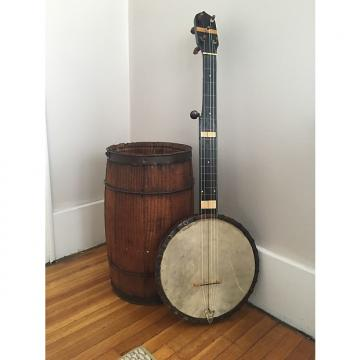 Custom Vintage Unknown Early (Ashborn-Style) 6 String Flushfret Fretless 1870s/ 1880's Wood With Inlays