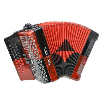 Custom Excalibur Super Classic PSI 3 Button Accordion - Red/Black -  Key of GCF