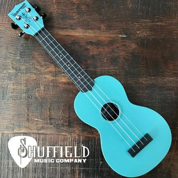 Custom Kala The Waterman Glow-In-The-Dark Aqua Matte Soprano Ukulele KA-SWG-BL