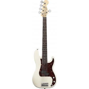 Custom Fender American Standard Precision Bass V (Five String) Rosewood Fingerboard Olympic White 193650705