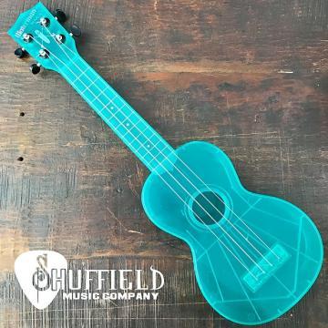 Custom Kala The Waterman Fluorescent Blue Raspberry Soprano Ukulele KA-SWF-BL