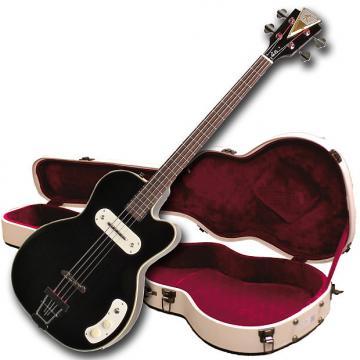 Custom Kay Vintage Reissue K162V Pro Bass Electronic Bass Guitar With Hardshell Case - Black.