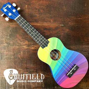 Custom Amahi Rainbow Wave Ukulele