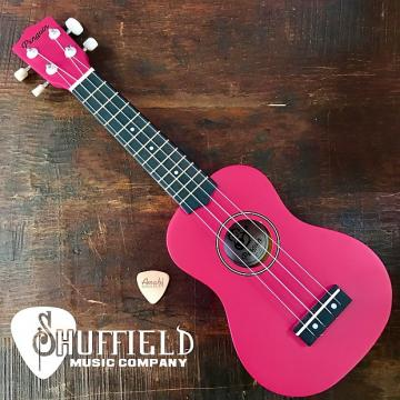 Custom Amahi Penguin Pink Soprano Ukulele w/ Amahi Leather Pick