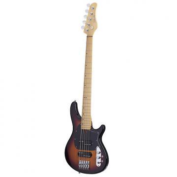 Custom Schecter 2494 5-String Bass Guitar, 3 Tone Sunburst, CV-5