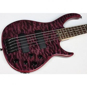 Custom Peavey Millennium 5 AC BXP 5-String Bass, Black Violet, Quilted Maple Top #40260