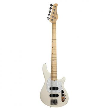 Custom Schecter 2495 5-String Bass Guitar, Ivory, CV-5