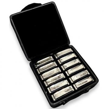 Custom Johnson BK-520 Blues King Harmonica Set 12 Keys w/ Carrying Case
