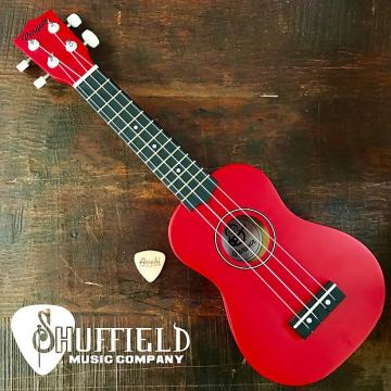 Custom Amahi Penguin Red Soprano Ukulele w/ Amahi Leather Pick