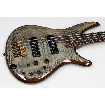 Custom Ibanez SR1405E Premium 5-String Bass Transparent Gray Black Finish, NEW!! #34754
