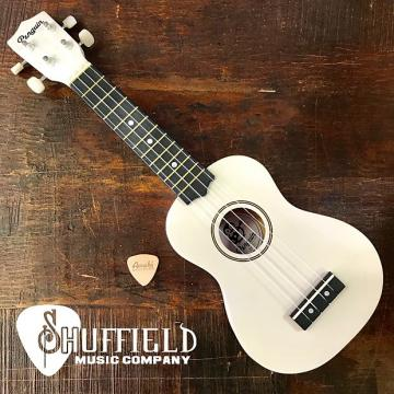 Custom Amahi Penguin White Soprano Ukulele w/ Amahi Leather Pick