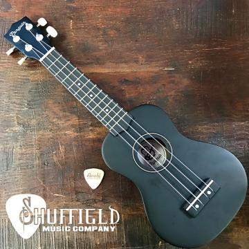 Custom Amahi Penguin Black Soprano Ukulele w/ Amahi Leather Pick