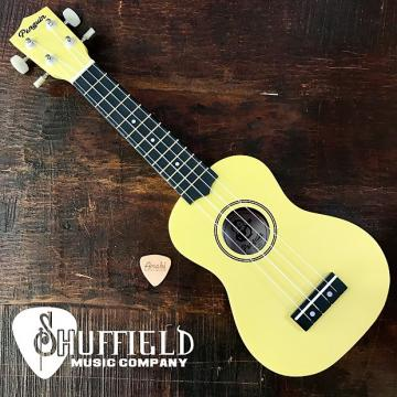 Custom Amahi Penguin Yellow Soprano Ukulele w/ Amahi Leather Pick